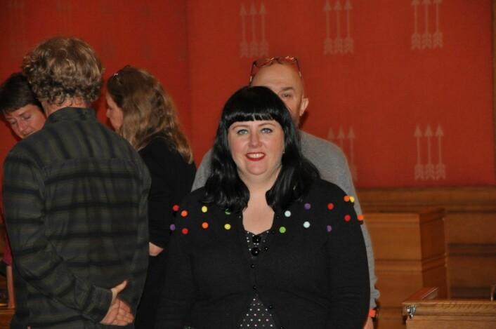 Næringsbyråd Victoria Marie Evensen (Ap) måtte svare i bystyrets spørretime. Foto: Arnsten Linstad