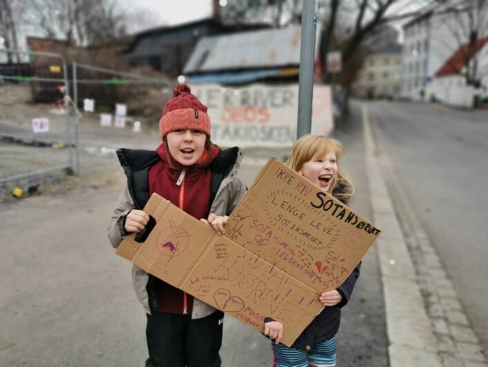 Elever ved Nyskolen er opptatte av nærmiljøet sitt. Foto: Jan-Petter Hammersland