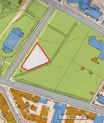 Et alternativ til et mindre hundeluftingsområde i Sofienbergparken, foreslått av initiativtagerne bak innbyggerforslaget.
