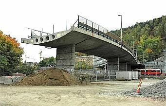 I april får Sørenga bro i Middelalderparken en trapp