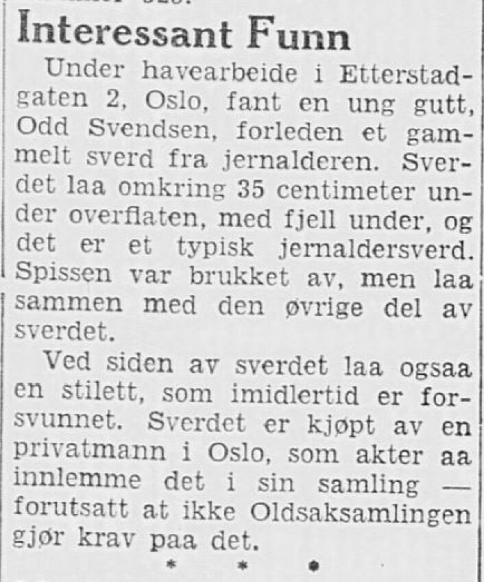 Fra Nordisk Tidende 12. september, 1935. Avisen kaller seg The Leading Norwegian Newspaper in America, established 1891.
