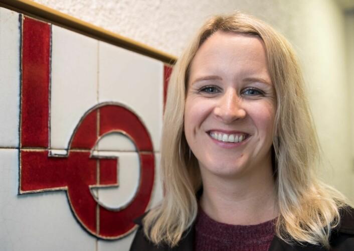 Julie Lødrup er 1 nestleder i LO. Hun holder appellen om arbeidslivet. Foto: Terje Pedersen / NTB scanpix