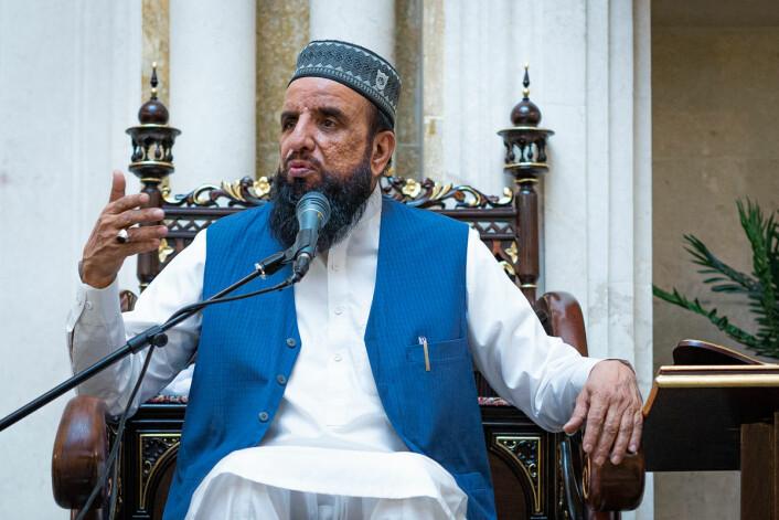 Hovedimam Syed Nehmat Ali Shah Bukhari. Foto: Morten Lauveng Jørgensen