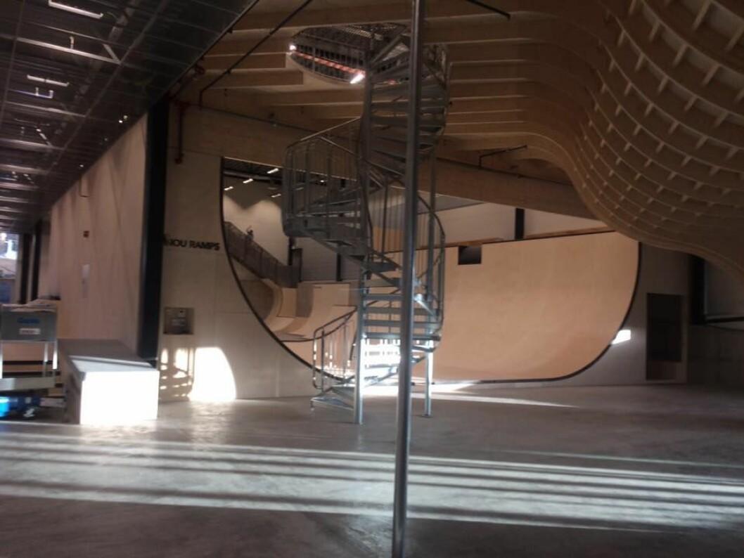 Oslo skatehall på Voldsløkka er åpnet. Foto: Kurt Lie