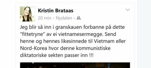 Studieleder i Nordre Aker Frp kaller Oslo-byråd for fittetryne og vietnamesermegge
