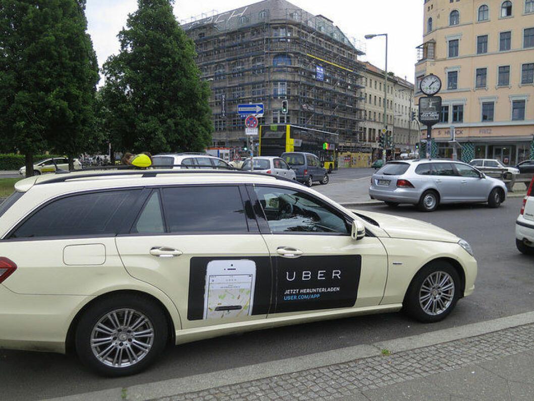 Uber taxi i aktivitet. Illustrasjonsfoto: Alper Cugun