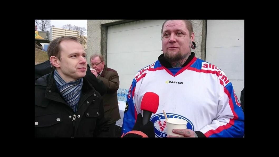 VIF-hockeyfan ved rivningen av gamle Jordal. Foto: Kay Asbjørn Knutsen Schjørlien, Johannes Hellstrand Frøshaug og Sondre Tarud.