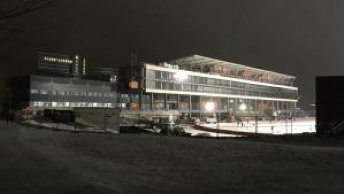 Skolen flytter inn i hovedtribunen på Vålerengas nye stadion på Valle Hovin 1. august. Illustrasjon: Stefan Ekeberg / Lille Frøen
