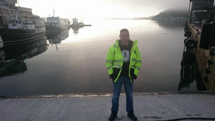 Leder for havnearbeiderne i Oslo, Tommy Torgersen mener de har blitt usaklig uthengt og tråkka på i flere år. Foto: Christian Boger