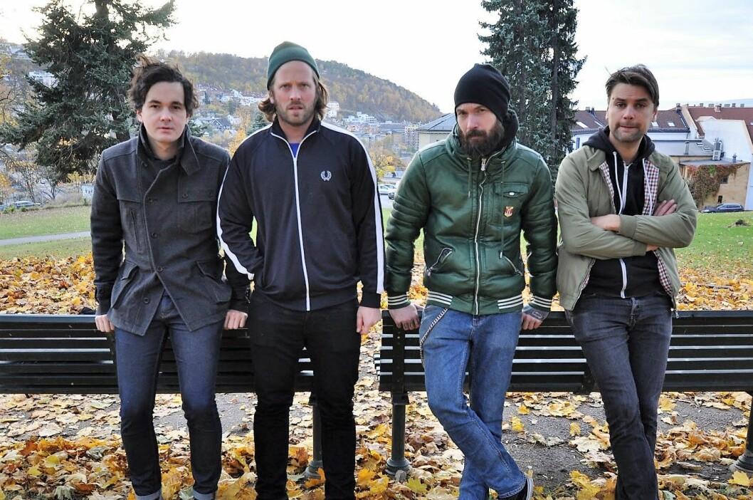 Islandsgate (fra v.): Anders Blom (gitar), Are Volmert Sørensen (gitar og sang), Karsten Blomstrand (trommer) og Einar Stubhaug (bass). Foto: Islandsgate