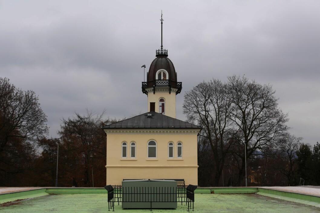 Tårnhuset og bassenget. Foto: Merethe Ruud