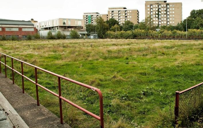 Her skal den nye bandy- og landhockeybanen til Sagene IF ligge.
