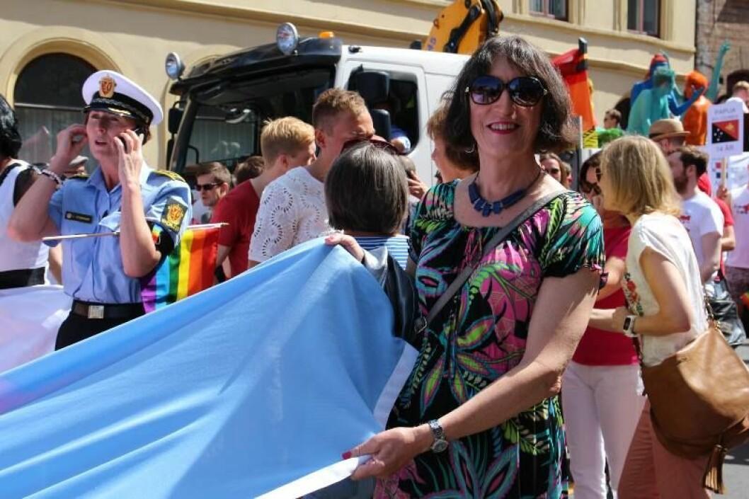 John Jeanette Solstad Remø, nestleder i Forbundet for transpersoner i Norge, ble glad over å høre at Oslo bystyre har satt ned råd for seksuelt mangfold.