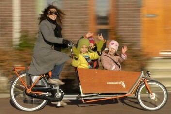 Bakfiets er på full fart inn på veiene i Oslo.