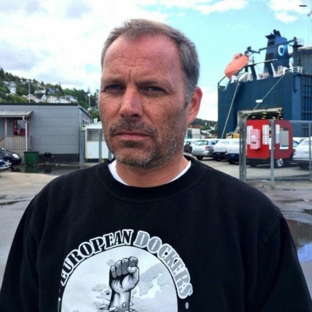 Leder for bryggearbeiderne i Oslo, Roar Langaard. Foto: Privat