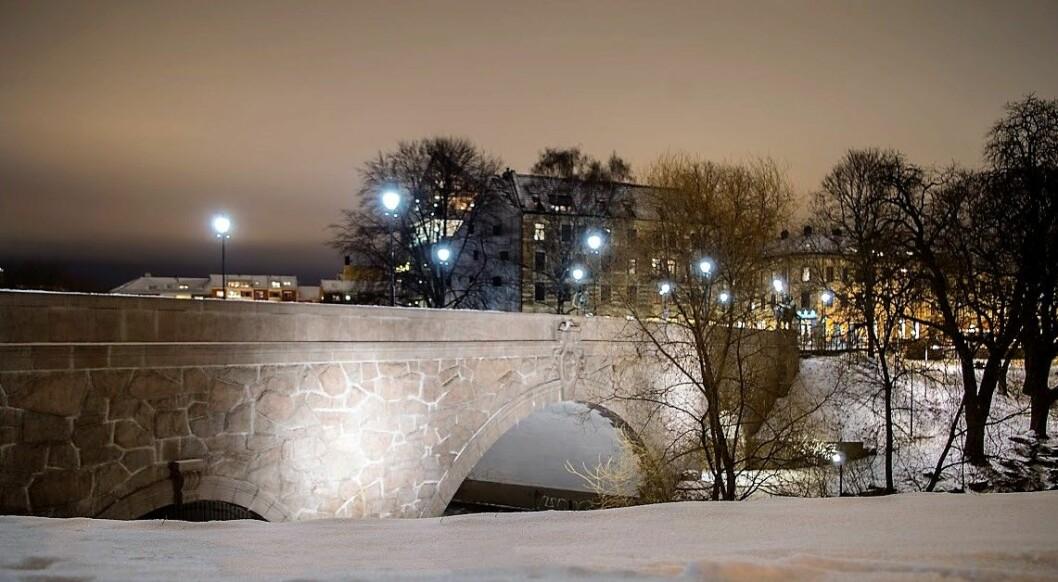 Ankerbrua en vinterkveld. Foto: Kyrre Songstad Seim