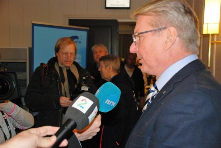 Fabian Stang var medieomsvermet både før og etter nominasjons-nederlaget. Foto: Arnsten Linstad