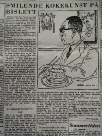 """I 1963 kunne den legendariske matskribenten Don Segundo (virkelige navn: Leif Borthen) avsløre at """"endelig skal Oslo få sin kinesiske restaurant'. Kilde: Aftenposten 2. september 1963, via Yenyin Kwan"""