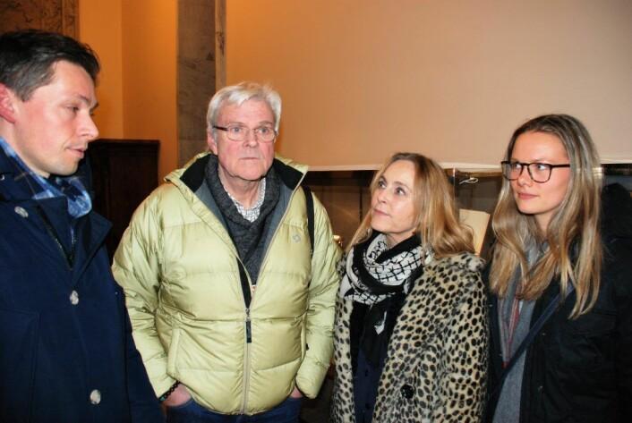 Engasjerte Frogner-beboere jobbet frem innbyggerforslag, men ble nedstemt. Fra venstre: Stian Krosby, Tom Hunstad, Ingalill Sandal og Elena Grevstad Kracht. Foto: Arnsten Linstad