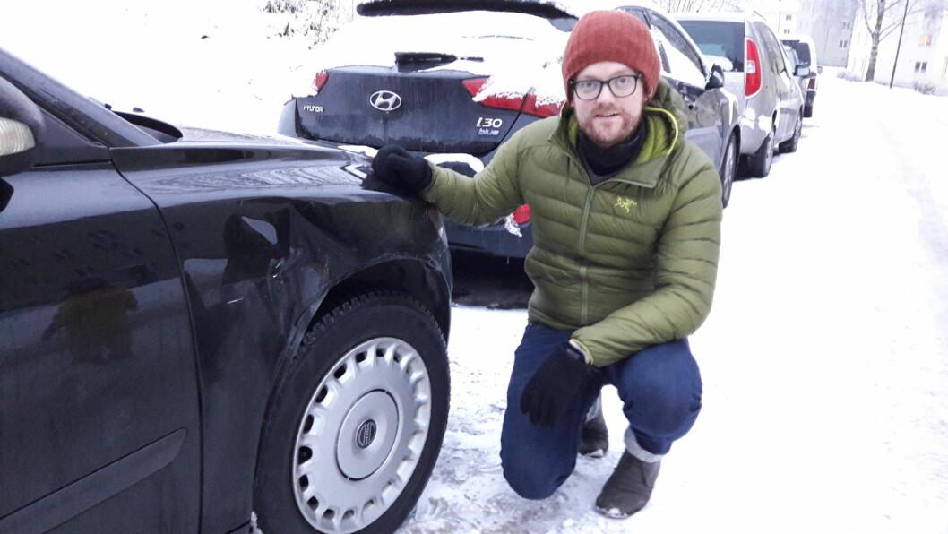Aslak Opsahl Brimi på Keyserløkka fant den forsvunnede sjåføren via Facebook. Foto: Anders Høilund