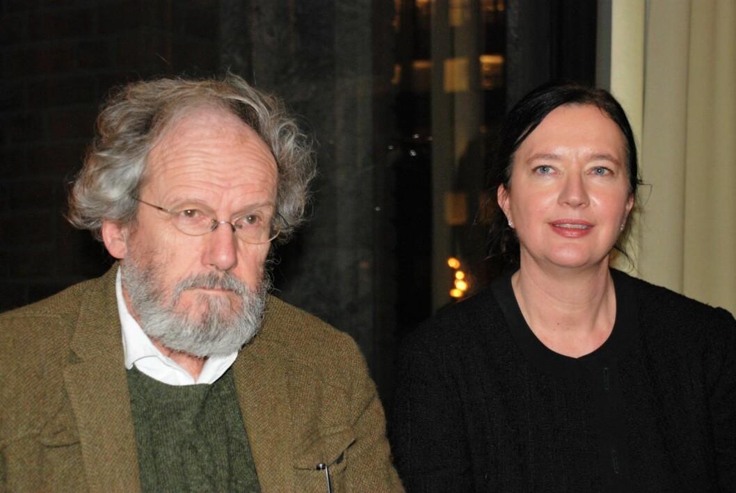 Hans M. Borchgrevink og leder Anne Christine Kroepelien (H) i St. Hanshaugen bydelsutvalg. Foto: Arnsten Linstad