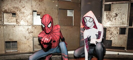 Cosplay samlet 1000 til rollefigurlek med Spiderman, Deadpool og K-pop