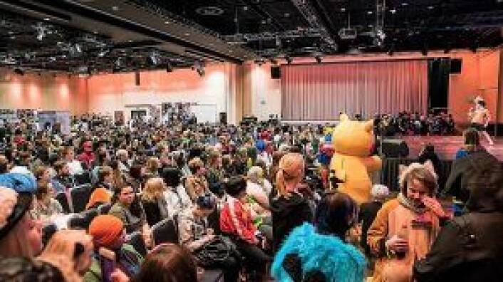 Omtrent 1000 cosplayers utfoldet seg i Oslo kongressenter. Foto: Willy Larsen