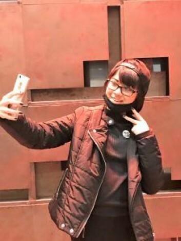 Elisabeth Staib i karakter som mannlig japansk mangafigur. Foto: Ina Kim Holmgren Johansen
