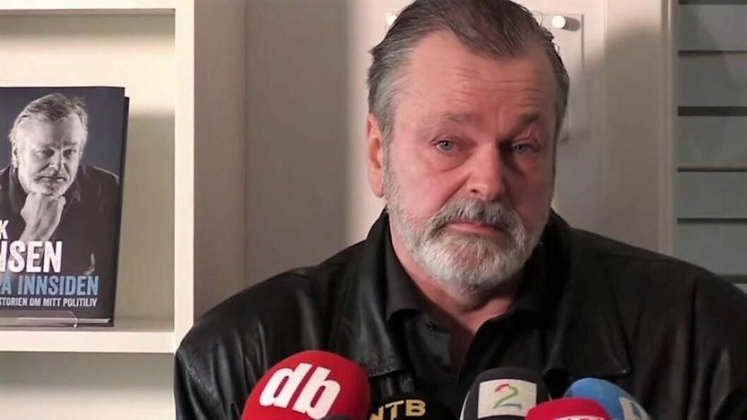 Eirik Jensen på pressekonferanse.