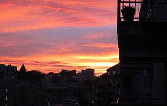 Oslos romantiske røde himler kan delvis skyldes forurensning