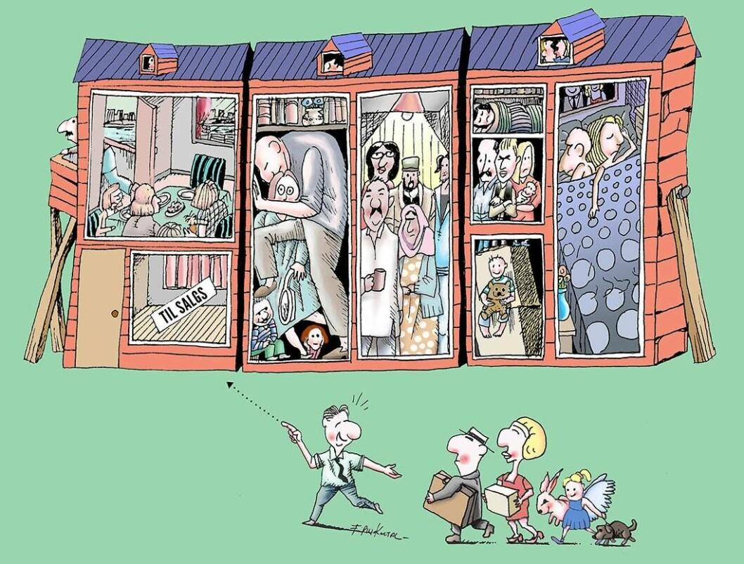 Ny Oslo-standard: Arealeffektive leiligheter til salgs. Tegning: Firuz Kutal