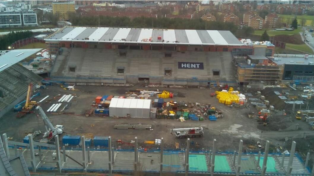 Vålerengas nye stadion på Valle Hovin vil ikke bli forsinket som følge av byggearbeidene i Brunstunnelen, melder klubben selv. Foto: VPN