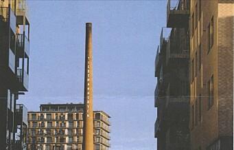 Byantikvaren vil tillate reklame på historisk pipe i Tiedemannsbyen på Ensjø