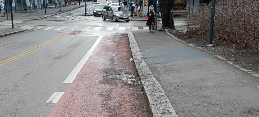 – Hvorfor feier ikke kommunen sykkelfeltene våre?