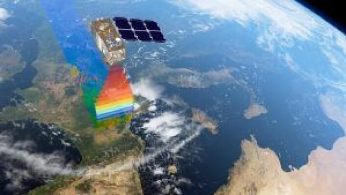 Satellittene ser i ulike bølgelengder. Illustrasjon/Foto: ESA/ATG medialab