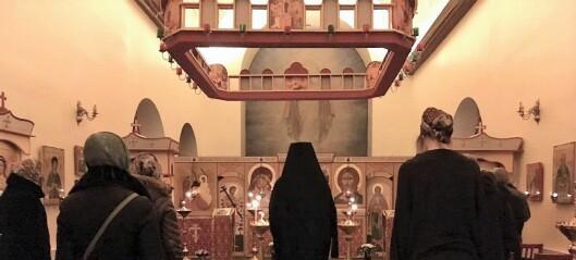 Russisk-ortodokse møtes til bysantinsk bønn på St. Hanshaugen
