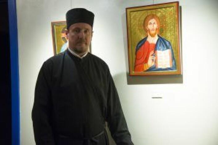 Menighetsprest f. Kliment: Den finske presten hadde aldri trodd han skulle havne i Oslo. Foto: Yasmin Sfrintzeris