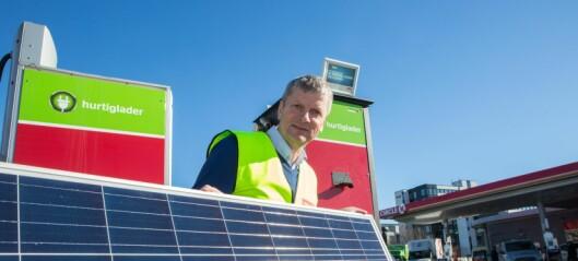 En bensinstasjon på Økern er først i landet med solkraft