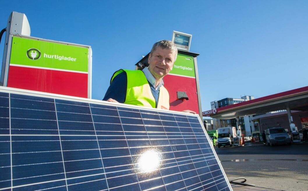 � Solcelleanlegget på Circle K Økern vil dekke om lag 10 prosent av stasjonens strømforbruk, sier miljøsjef Stein Lorentzen. Illustrasjonsfoto: Johnny Syversen