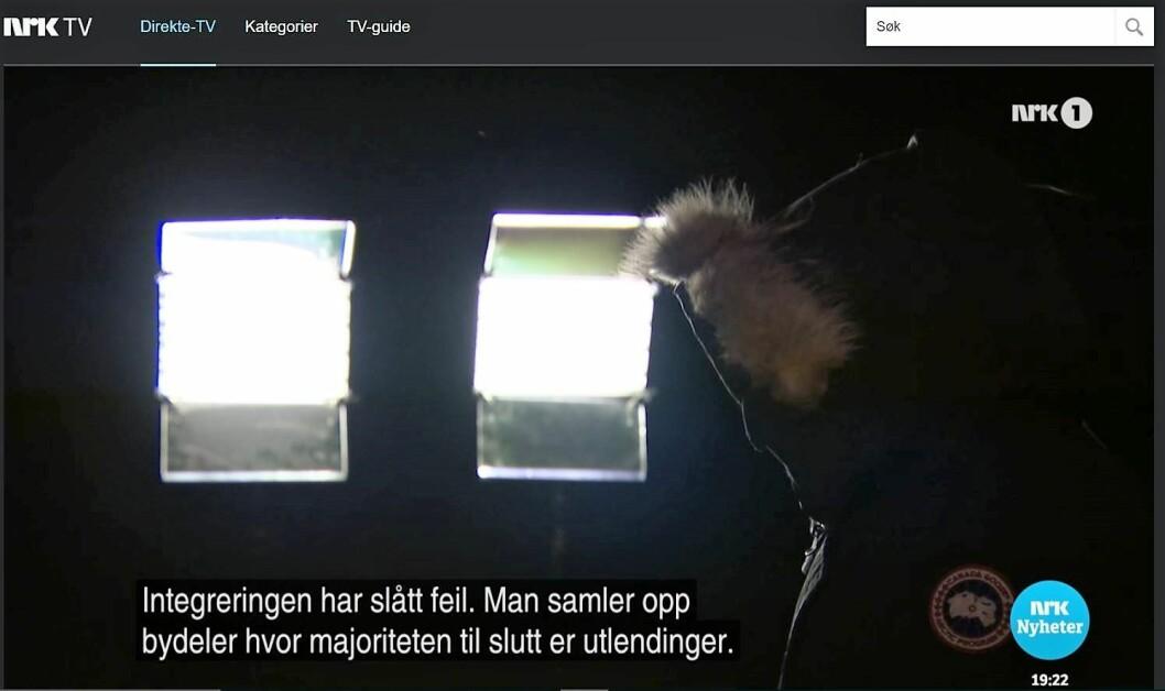 Anonym person på NRK Dagsrevyen mener den økte kriminaliteten i Oslo øst skyldes utlendinger.