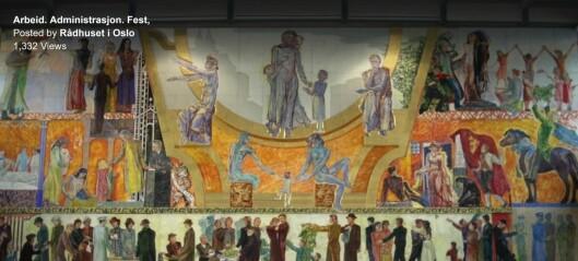 Sjekk videoguiden til Henrik Sørensens vakre univers på Rådhuset. Et av Europas største oljemalerier
