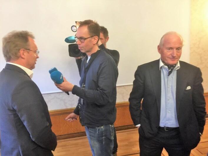 Investor Christian Ringnes ble lettet over å høre på byrådsleder Raymond Johansen. Foto: Vegard Velle