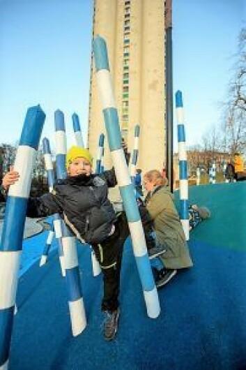 Barn leker i Nedre Foss park. Foto: Privat