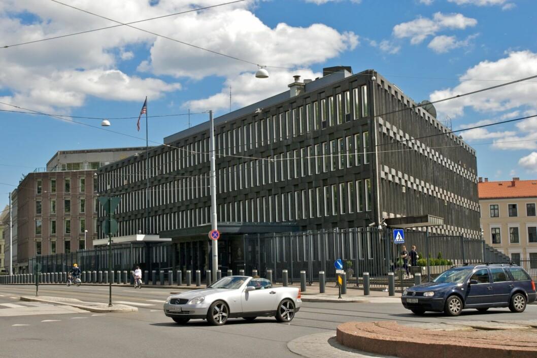 Den amerikanske ambassaden i Henrik Ibsens gate 48. Foto: Kjetil Ree