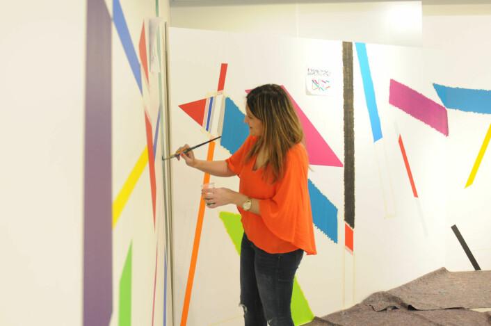 Marisa Ferreira maler verket Coloured Rhythm # 1