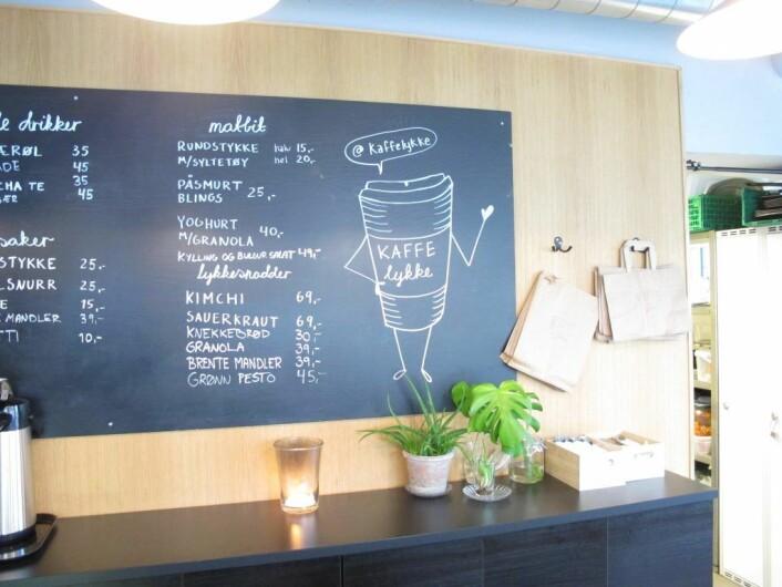 KaffeLykke er stedet hvor naboene på Dælenenga treffes. Foto: Mona Gundelach Mikkelsen