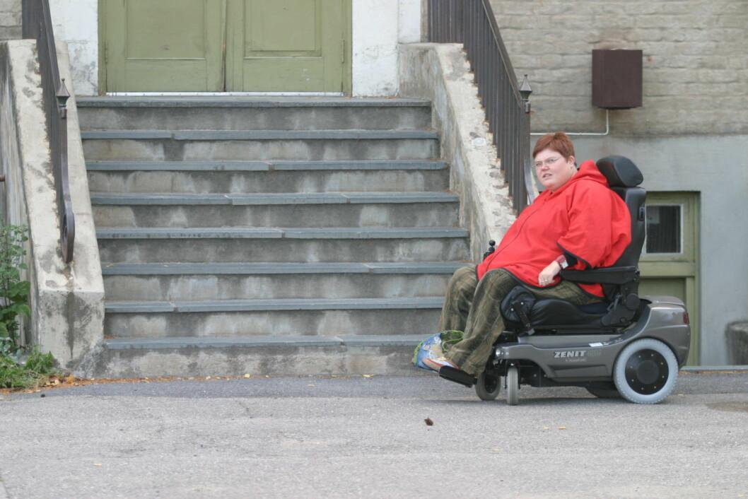 Rullestolen kan ikke komme opp her. Foto: Arnljot Bringedal/Kongsvinger kommune
