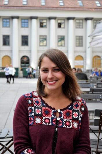 Cathrine Linn Kristiansen er talsperson for Feministisk initiativ og Kvinnefronten. Foto: Wera Birgitte Holst