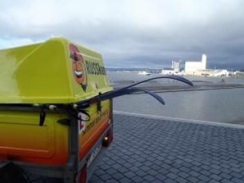 Ruskenbilen var for anledningen omdøpt til RUSSken. Foto: anders Høilund