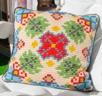 Inger-Maries mønsterdesign: Hun ble bare så vidt kreditert av det store forlaget som kjøpte mønsteret. Foto: Susanne Skaug